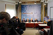 Blick in den Raum der Landespressekonferenz