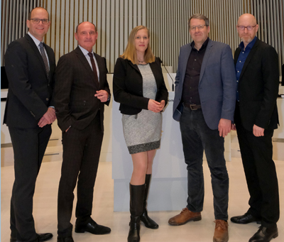 Der Vorstand v.l.: Axel Seitz, Stefan Koslik, Maike Gross, Bernd Mosebach und Frank Pfaff