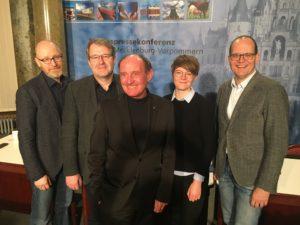 Der Vorstand v.l.n.r.: Frank Pfaff, Bernd Mosebach, Stefan Koslik, Jette Studier, Axel Seitz